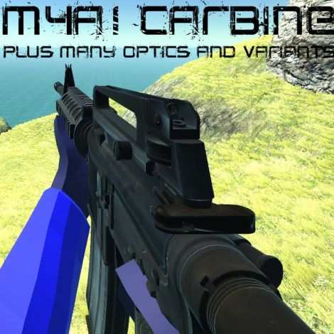 M4A1 Carbine + Many Optics and Attachment Variants