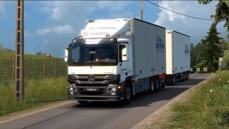 Rigid Chassis для Mercedes Actros MP3 Reworks