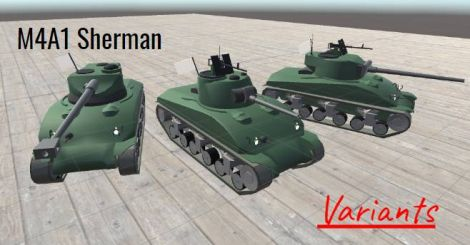M4A1 Sherman Variants
