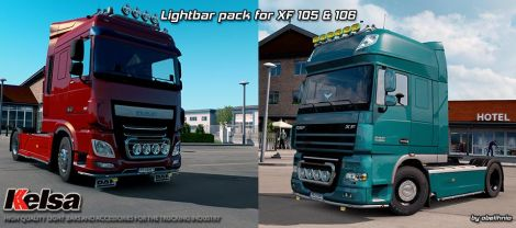 Kelsa Lightbars for DAF XF105 & 106