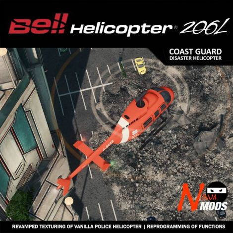 Bell 206 L4 Coast Guard Disaster Response Helicopter