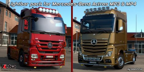 Kelsa Lightbars for MB Actros MP3 & MP4