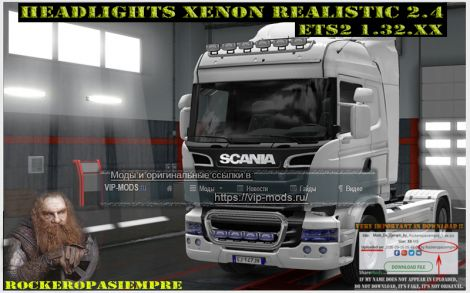 Headlights Xenon Realistic and Visors