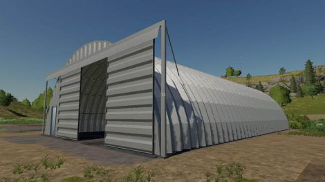 Placeable Quonset Shed
