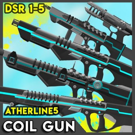 DSR Coil gun weapons pack