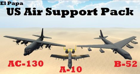 US Air Support Pack (A-10 Warthog, B-52 & AC-130)