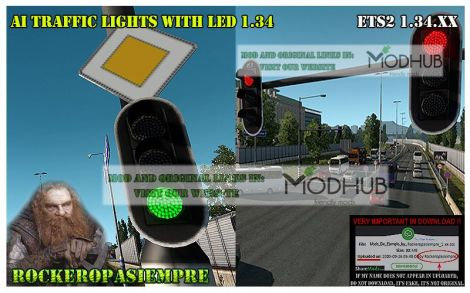 AI Traffic light with led