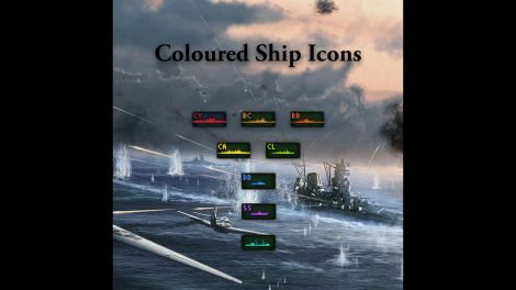 Coloured Ship Icons
