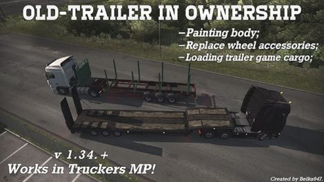 Old-Trailer in ownership [Works at Truckers MP]