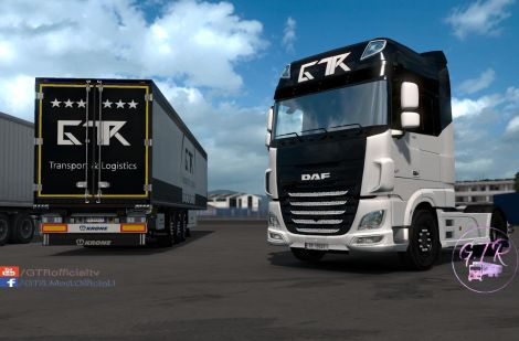 Скин «Transport & Logistics» для прицепа и DAF XF Euro 6