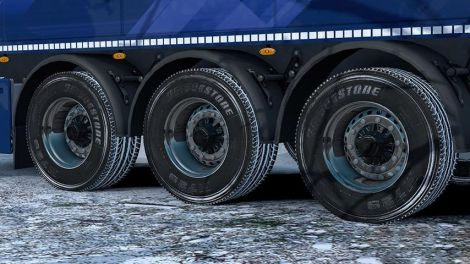 Snowy Wheel for Trucks and Trailers