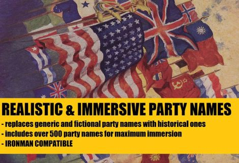 Realistic & Immersive Party Names