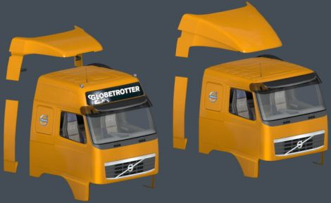 Volvo FH 2009 Correct roofs & spoilers