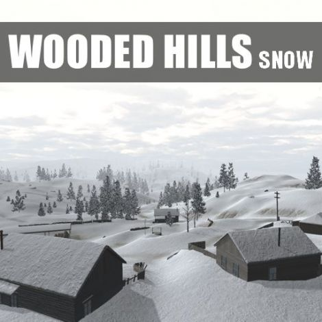 Wooded Hills - Snow